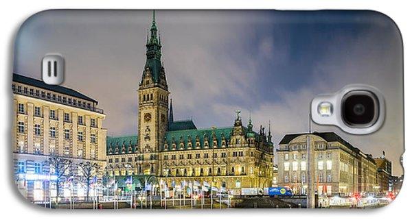 Hamburg Galaxy S4 Cases - View Of Hamburg Rathaus At Dusk Galaxy S4 Case by Panoramic Images