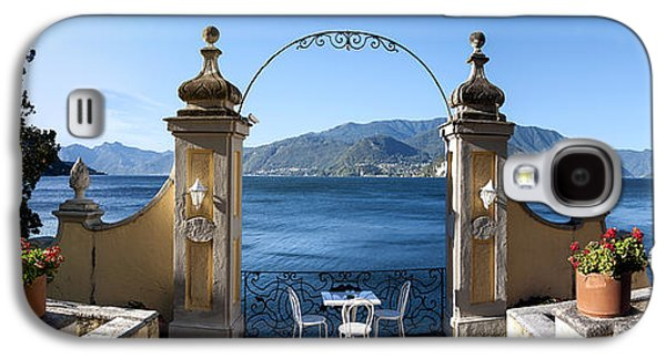 Built Structure Galaxy S4 Cases - View Of Lake Como From A Patio Galaxy S4 Case by Panoramic Images