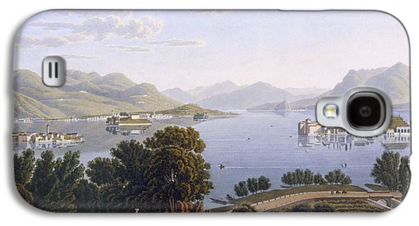 View Of Lake Maggiore And The Borromean Galaxy S4 Case by Swiss School