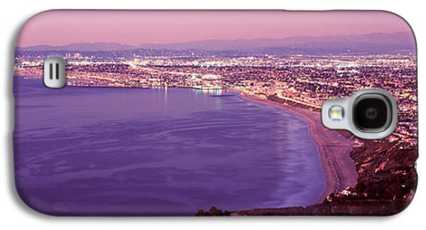 Monica Galaxy S4 Cases - View Of Los Angeles Downtown Galaxy S4 Case by Panoramic Images