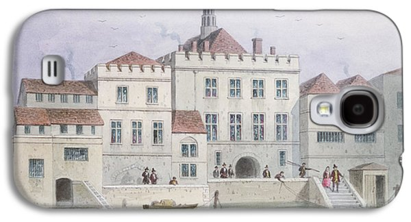 View Of Old Fishmongers Hall, 1650 Wc On Paper Galaxy S4 Case by Thomas Hosmer Shepherd