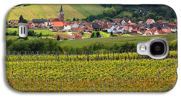 Vineyards Of Alsace Photographs Galaxy S4 Cases - View of Rodern From the Vineyards of Alsace Galaxy S4 Case by Greg Matchick
