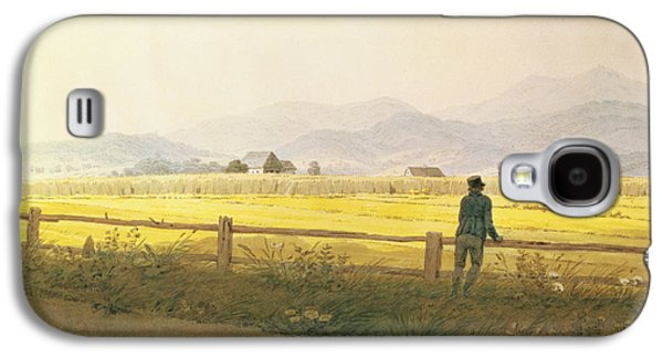 Posters On Paintings Galaxy S4 Cases - View of Schmiedebergerkamm Galaxy S4 Case by Caspar David Friedrich