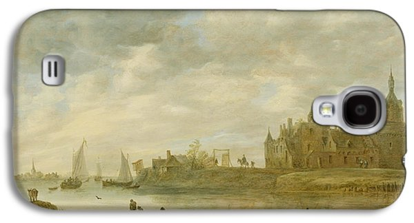 Fantasy Galaxy S4 Cases - View of the Castle of Wijk at Duurstede Galaxy S4 Case by Jan van Goyen