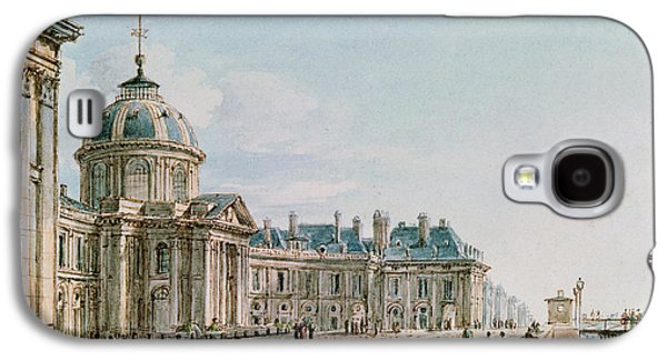 Facade Galaxy S4 Cases - View Of The College Des Quatre Nations, Paris, C.1810 Wc On Paper Galaxy S4 Case by Victor Jean Nicolle