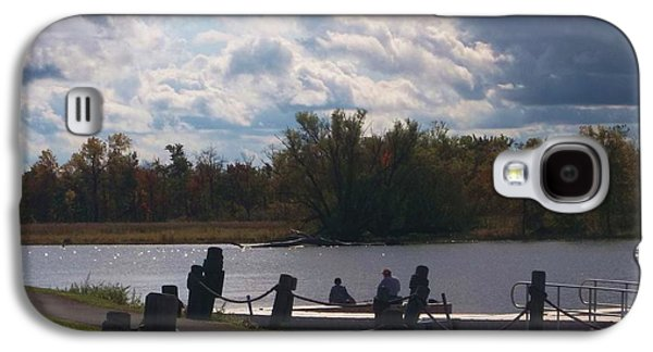 Waterscape Galaxy S4 Cases - View of the Creek from Catskill Point Galaxy S4 Case by Ellen Levinson