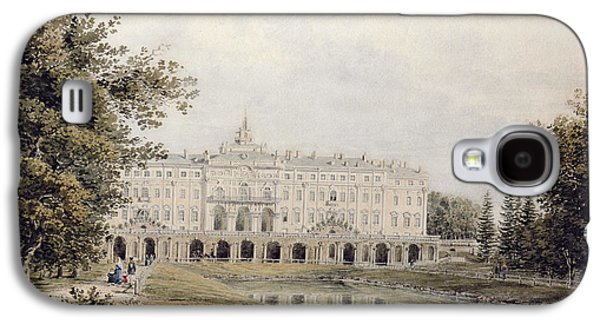 Facade Galaxy S4 Cases - View Of The Great Palace Of Strelna Near St. Petersburg, 1841 Wc On Paper Galaxy S4 Case by Yegor Yegorovich Meier