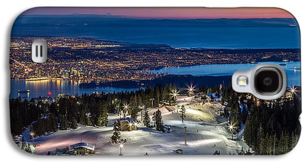 Vancouver Photographs Galaxy S4 Cases - View of Vancouver city from Grouse Mountain Galaxy S4 Case by Pierre Leclerc Photography