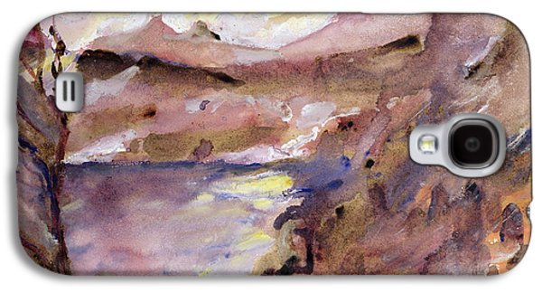 Reservoir Galaxy S4 Cases - View of Walchen Lake Galaxy S4 Case by Lovis Corinth