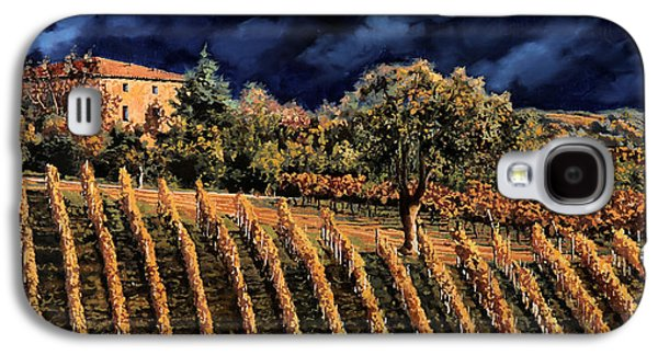 Grape Vineyard Galaxy S4 Cases - Vigne Orizzontali Galaxy S4 Case by Guido Borelli