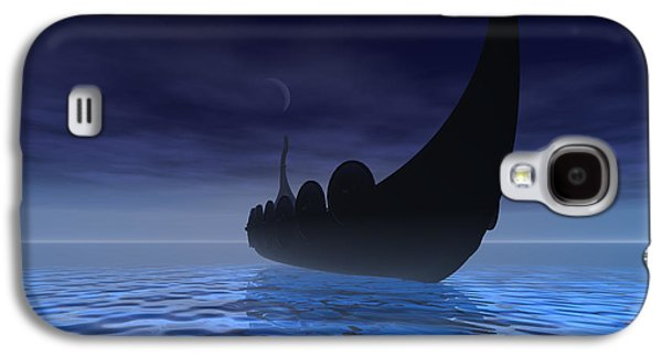Shield Digital Galaxy S4 Cases - Viking Ship Galaxy S4 Case by Corey Ford