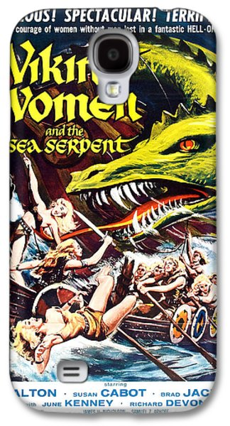Serpent Galaxy S4 Cases - Viking Women and the Sea Serpent Poster Galaxy S4 Case by Gianfranco Weiss