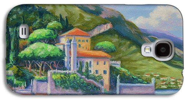 Original Art Pastels Galaxy S4 Cases - Villa Balbianello Lake Como Galaxy S4 Case by John Clark