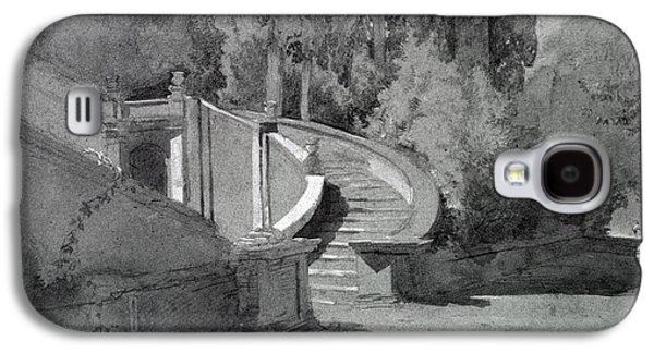Staircase Galaxy S4 Cases - Villa Deste, Tivoli Galaxy S4 Case by Hercules Brabazon Brabazon