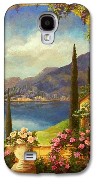 Grape Vineyard Galaxy S4 Cases - Villa Rosa Galaxy S4 Case by Evie Cook