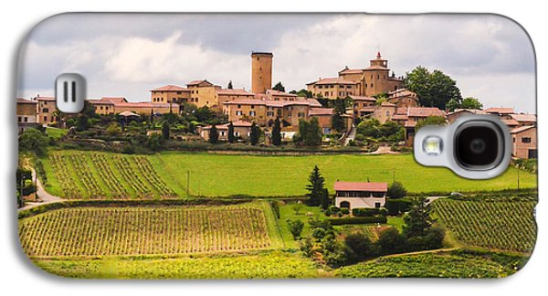 Oingt Photographs Galaxy S4 Cases - Village in French Countryside Galaxy S4 Case by Allen Sheffield