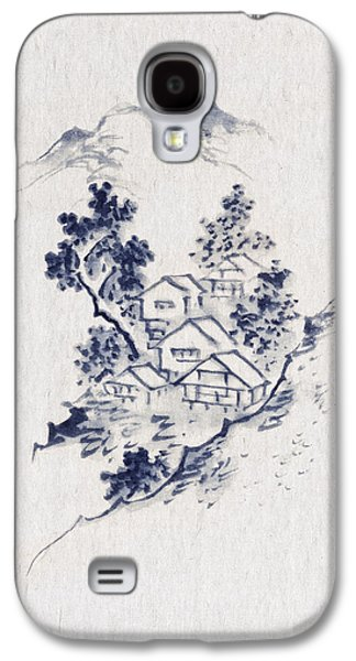 Small Galaxy S4 Cases - Village in the mountains Galaxy S4 Case by Aged Pixel