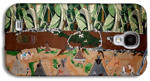 African-americans Tapestries - Textiles Galaxy S4 Cases - Village Life Galaxy S4 Case by Linda Egland