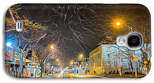 Kinkade Galaxy S4 Cases - Village Winter Dream Galaxy S4 Case by Chris Bordeleau