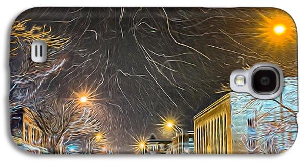 Kinkade Galaxy S4 Cases - Village Winter Dream - Square Galaxy S4 Case by Chris Bordeleau