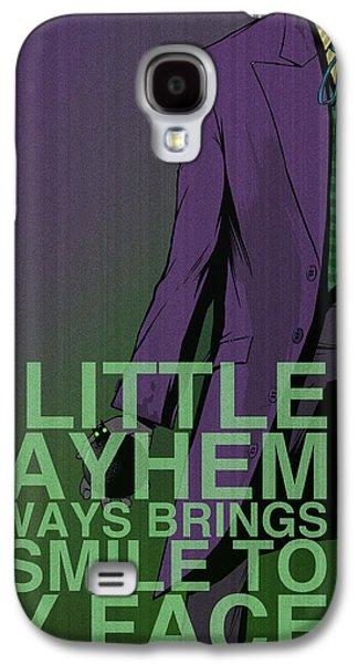 Green Posters Digital Galaxy S4 Cases - Villains Poster - Joker Galaxy S4 Case by Christopher Ables