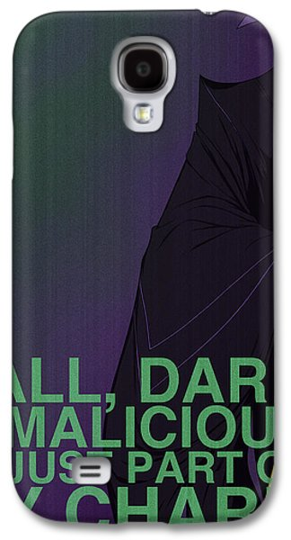 Animation Galaxy S4 Cases - Villains Poster - Maleficent Galaxy S4 Case by Christopher Ables