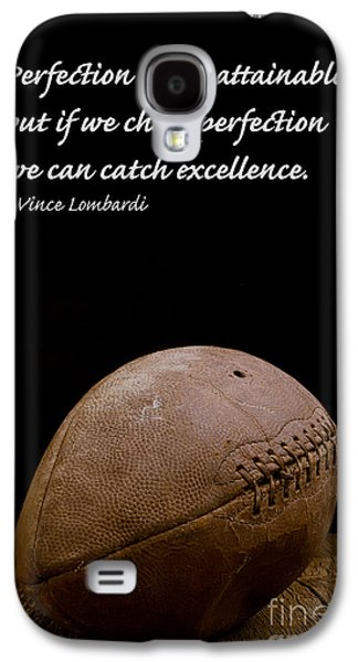 Football Photographs Galaxy S4 Cases - Vince Lombardi on Perfection Galaxy S4 Case by Edward Fielding