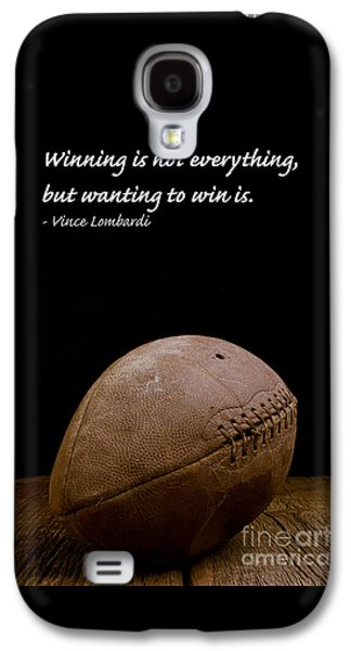 Sports Photographs Galaxy S4 Cases - Vince Lombardi on Winning Galaxy S4 Case by Edward Fielding