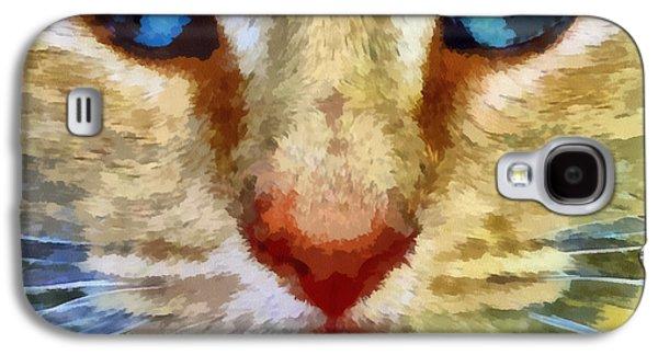 House Pet Digital Art Galaxy S4 Cases - Vincent Galaxy S4 Case by Michelle Calkins
