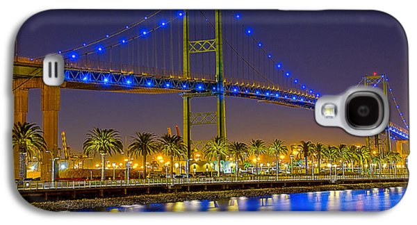 Terminal Photographs Galaxy S4 Cases - Vincent Thomas Bridge - Nightside Galaxy S4 Case by Jim Carrell