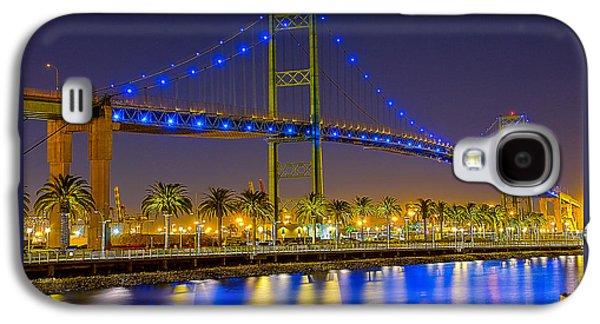 Vincent Thomas Bridge - Nightside Galaxy S4 Case by Jim Carrell