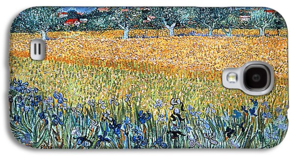 Arles Galaxy S4 Cases - Vincent Van Gogh 1853-1890. Dutch Painter. Field With Flowers Near Arles. 1888. Van Gogh Museum Galaxy S4 Case by Bridgeman Images