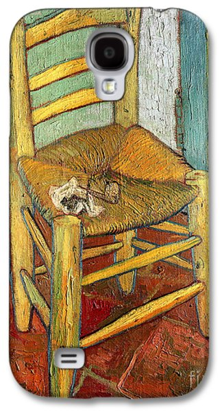 Boss Paintings Galaxy S4 Cases - Vincents Chair 1888 Galaxy S4 Case by Vincent van Gogh