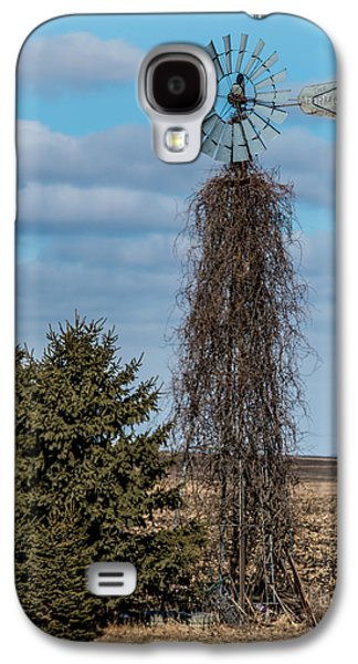 Old Mill Scenes Photographs Galaxy S4 Cases - Vine Covered windmill Galaxy S4 Case by Paul Freidlund