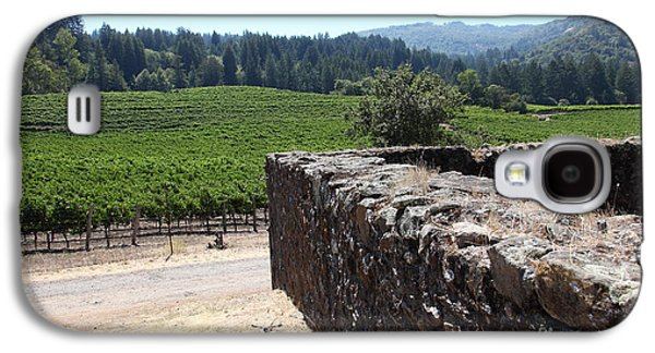 Pastoral Vineyards Galaxy S4 Cases - Vineyard and Winery Ruins At Historic Jack London Ranch In Glen Ellen Sonoma California 5D24537 Galaxy S4 Case by Wingsdomain Art and Photography