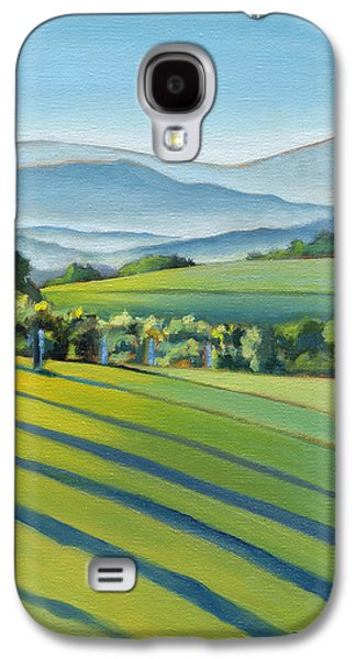 Pottery Paintings Galaxy S4 Cases - Vineyard Blue Ridge on Buck Mountain Road Virginia Galaxy S4 Case by Catherine Twomey