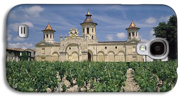 Winery Photography Galaxy S4 Cases - Vineyard In Front Of A Castle, Chateau Galaxy S4 Case by Panoramic Images