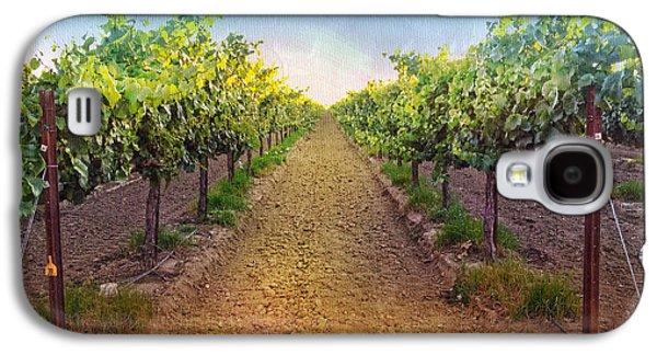 Grape Vine Galaxy S4 Cases - Vineyard Road Galaxy S4 Case by Shari Warren