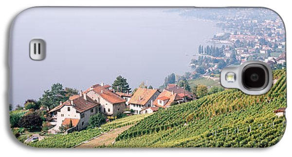 Winery Photography Galaxy S4 Cases - Vineyards, Lausanne, Lake Geneva Galaxy S4 Case by Panoramic Images