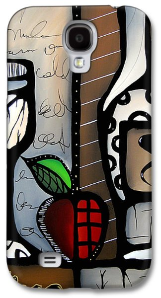 Modern Abstract Drawings Galaxy S4 Cases - Vino Revisited Galaxy S4 Case by Tom Fedro - Fidostudio