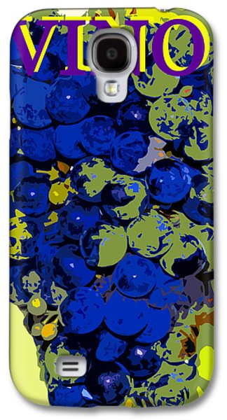 Posters On Digital Galaxy S4 Cases - VINO spc work purple Galaxy S4 Case by David Lee Thompson