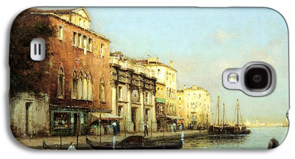Boats At Dock Galaxy S4 Cases - Vinse Galaxy S4 Case by Marc Aldine