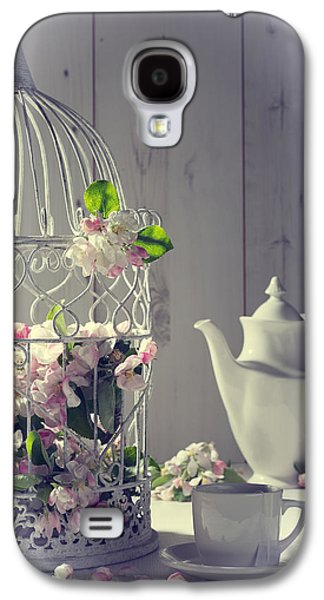 Cage Galaxy S4 Cases - Vintage Afternoon Tea Galaxy S4 Case by Amanda And Christopher Elwell