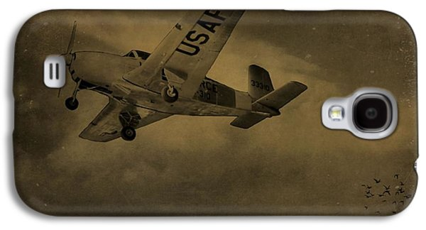 Gear Mixed Media Galaxy S4 Cases - Vintage Air Force Flight World War Two Galaxy S4 Case by Dan Sproul
