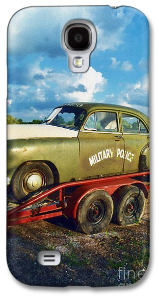 Police Art Galaxy S4 Cases - Vintage American Military Police Car Galaxy S4 Case by Kathy Fornal