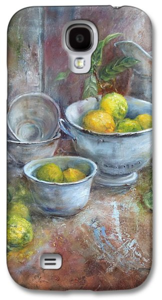 Old Pitcher Paintings Galaxy S4 Cases - Vintage And Lemons Galaxy S4 Case by Mariana Zwaan