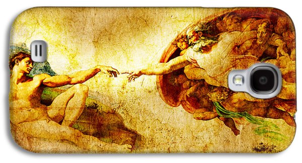 Vintage Art - The Creation Of Adam Galaxy S4 Case by Stefano Senise