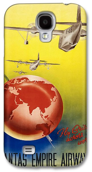 Vintage Australia Travel Poster Galaxy S4 Case by Jon Neidert