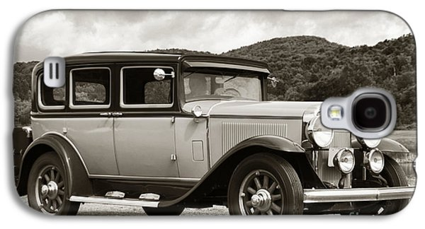 Ancient Galaxy S4 Cases - Vintage Automobile on Dirt Road Galaxy S4 Case by Olivier Le Queinec
