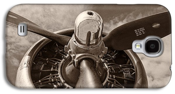 Black And White Galaxy S4 Cases - Vintage B-17 Galaxy S4 Case by Adam Romanowicz